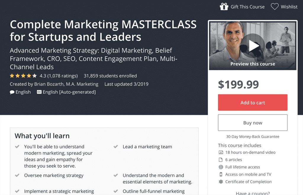 complete marketing masterclass image