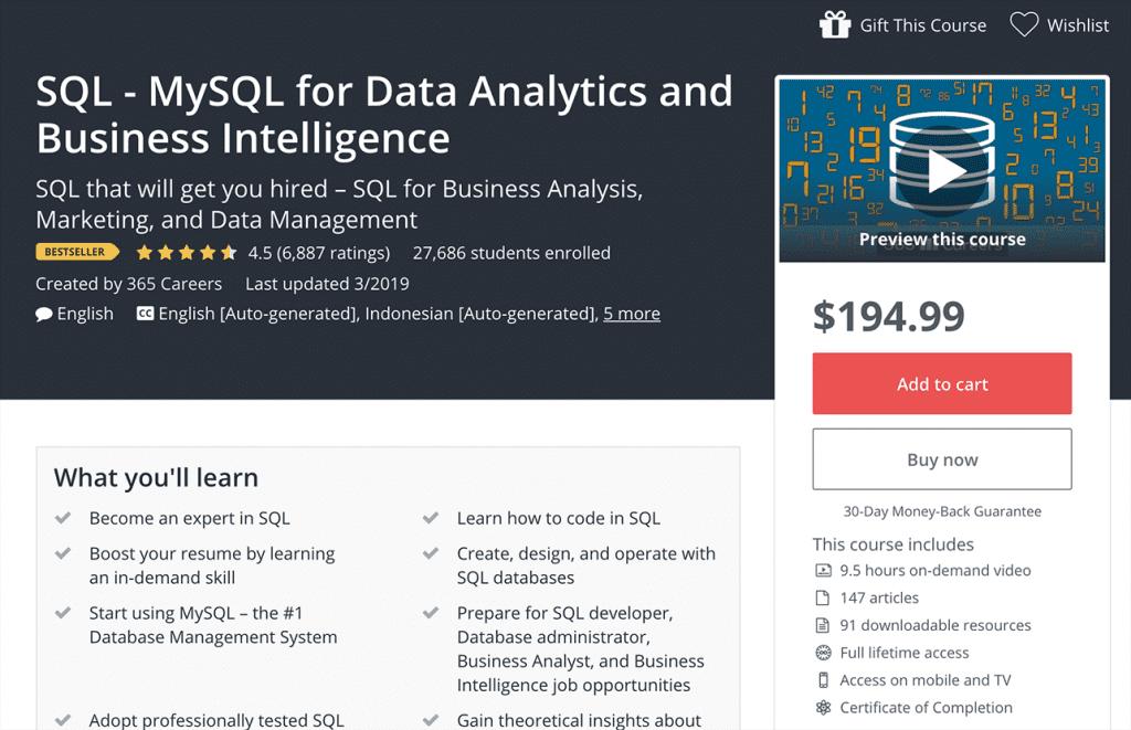 SQL MySQL for Data Analytics Image